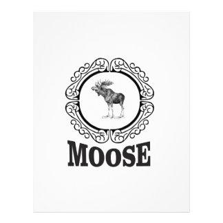 ornate circle moose letterhead