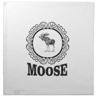 ornate circle moose napkin