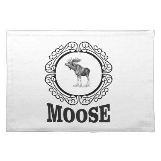 ornate circle moose placemat