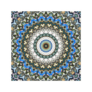 Ornate Colorful Mandala Canvas Print