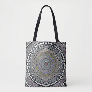 Ornate Concentric Abstract Tote Bag