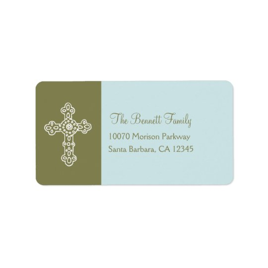 Ornate Cross Address Label