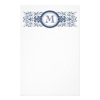 Ornate Customizable Monogram stationary Customized Stationery