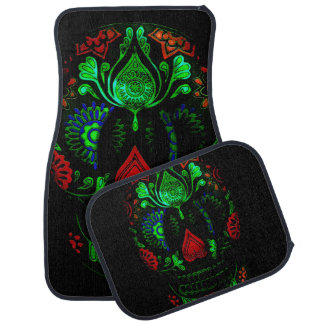 Ornate Day of the Dead Skull Car Mat