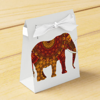 Ornate Decorated Indian Elephant Design Favor Box