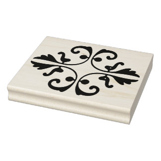 Ornate Decoration Rubber Art Stamp