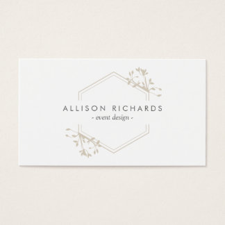 Ornate Elegant Vine and Leaf Emblem Business Card