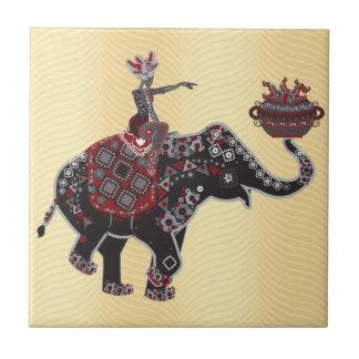 Ornate Elephant Ceramic Tiles