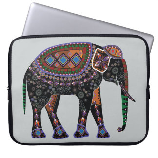 Ornate Elephant Computer Sleeves
