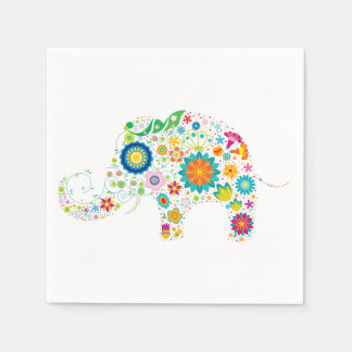 Ornate Elephant Disposable Napkin
