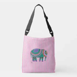 Ornate Elephant Double Sided Cool Tote Bag