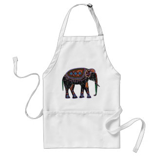 Ornate Elephant Standard Apron