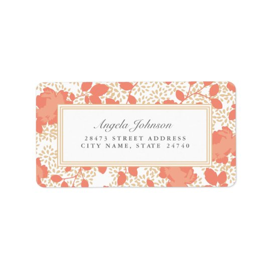 Ornate Floral Address Labels