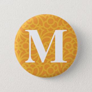 Ornate Floral Monogram - Letter M 2 Inch Round Button