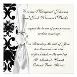 ornate formal black white damask