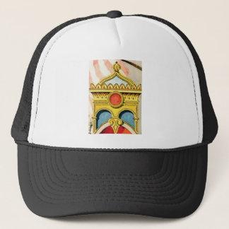 ornate frame trucker hat