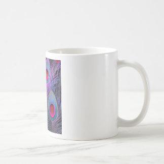Ornate Fuchsia-Purple  Peacock Feathers GIFTS Coffee Mug
