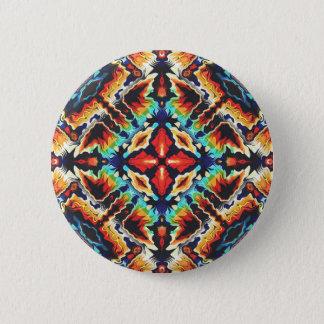 Ornate Geometric Colors 2 Inch Round Button