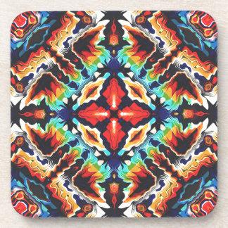 Ornate Geometric Colors Coaster