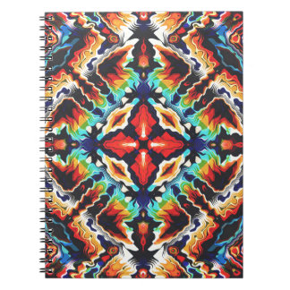 Ornate Geometric Colors Spiral Notebook