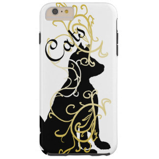Ornate Gold Black Cat Fashion CricketDiane Tough iPhone 6 Plus Case