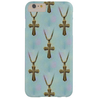Ornate Gold Cross and Chain Barely There iPhone 6 Plus Case