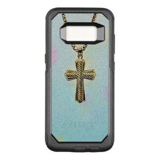 Ornate Gold Cross and Chain OtterBox Commuter Samsung Galaxy S8 Case