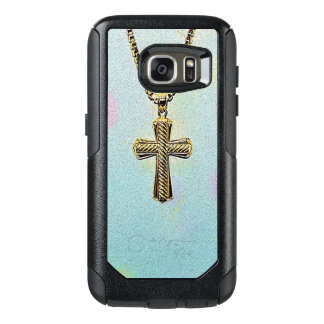 Ornate Gold Cross and Chain OtterBox Samsung Galaxy S7 Case