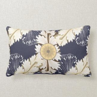 Ornate Greek Scrolled Leaves in Tan Lumbar Pillow