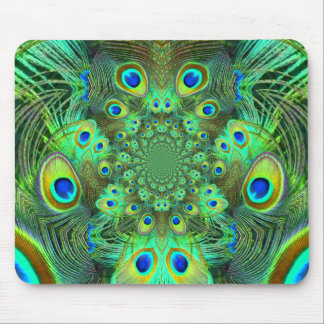 Ornate Green Peacock Feathers GIFTS Mouse Pad