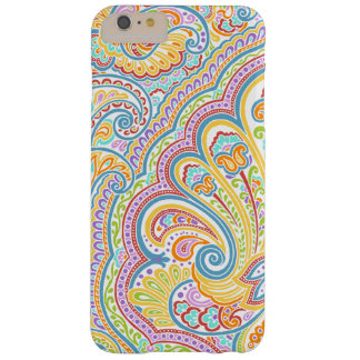 Ornate Hand Drawn Paisley Floral Motif Barely There iPhone 6 Plus Case