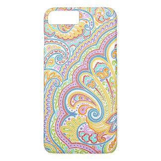 Ornate Hand Drawn Paisley Floral Motif iPhone 8 Plus/7 Plus Case