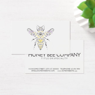 ornate honey bee business card