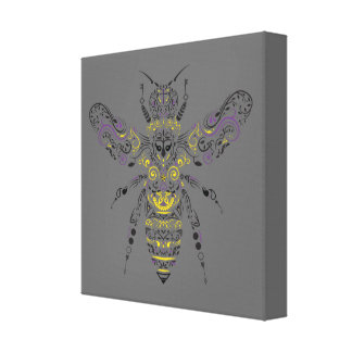 ornate honey bee canvas print