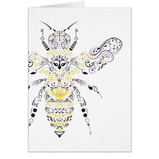 ornate honey bee card