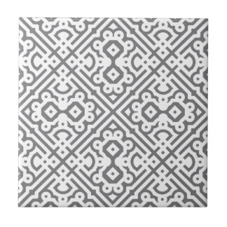 Ornate Labyrinth in Gray Tile