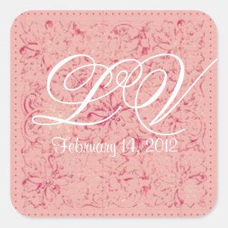 Ornate Lace Wedding Monogram Customizable Sticker