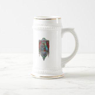 Ornate Letter A Monogram Print Mugs