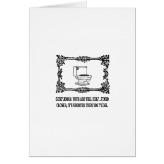 ornate male joke toilet card