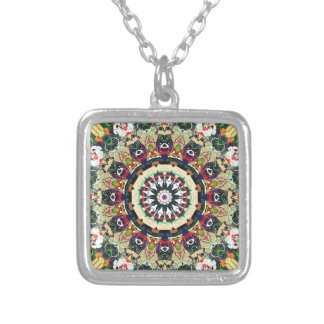 Ornate Mandala Design Silver Plated Necklace