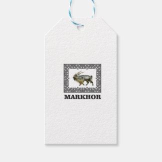 Ornate Markhor frame Gift Tags
