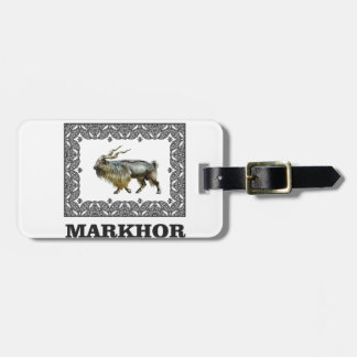 Ornate Markhor frame Luggage Tag