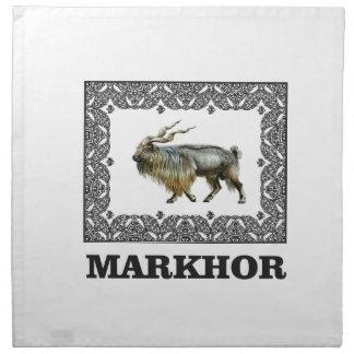 Ornate Markhor frame Napkin