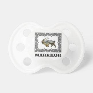 Ornate Markhor frame Pacifier