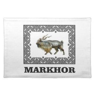 Ornate Markhor frame Placemat