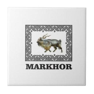Ornate Markhor frame Tile