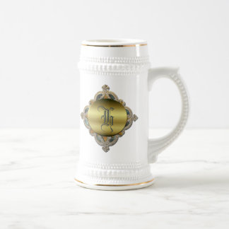 Ornate Monogram Stein Mugs