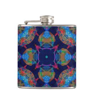 Ornate Mosaic Hip Flask