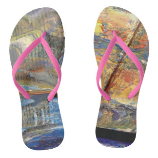 Ornate one into the summer vacation flip flops
