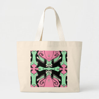 ornate orcas killer whale canvas tote bag